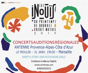 Audition Région Live Inouis 2019
